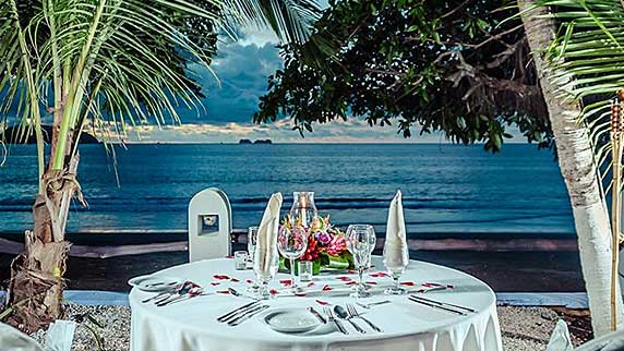 Bahia del sol Beach Front Boutique Hotel private dinner