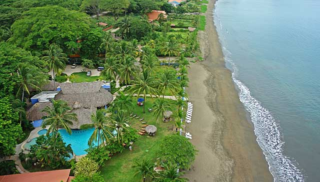 aerial view of Bahia del sol Beach Front Boutique Hotel