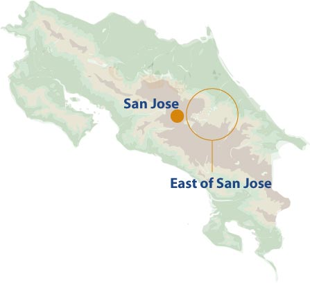 East of San Jose mini map