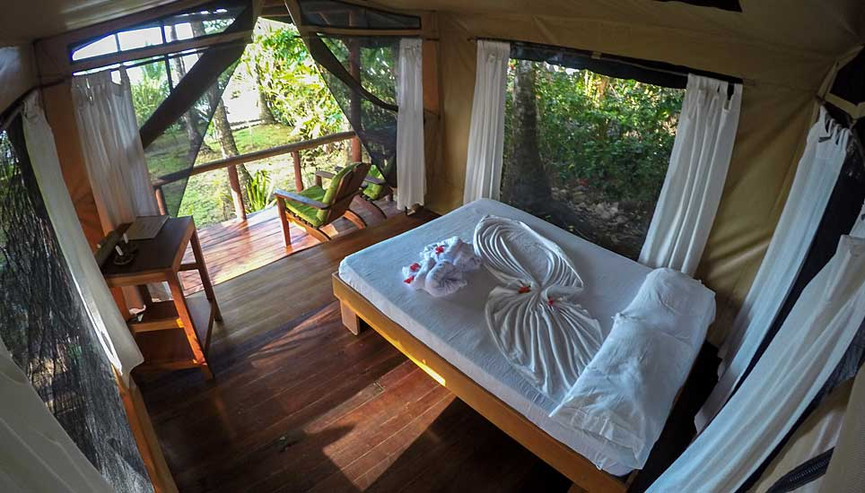 La Leona Eco Lodge room