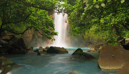 waterfall rio celeste costa rica
