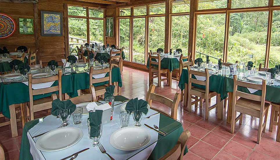 Bosque de Paz dining room