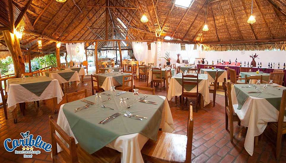 Cariblue Beach and Jungle Resort dining room