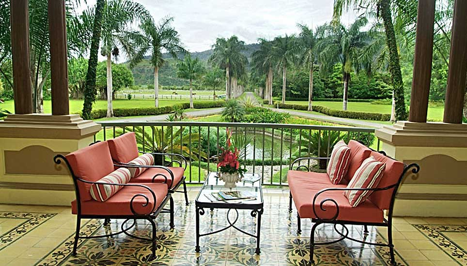 Casa Turire view of garden