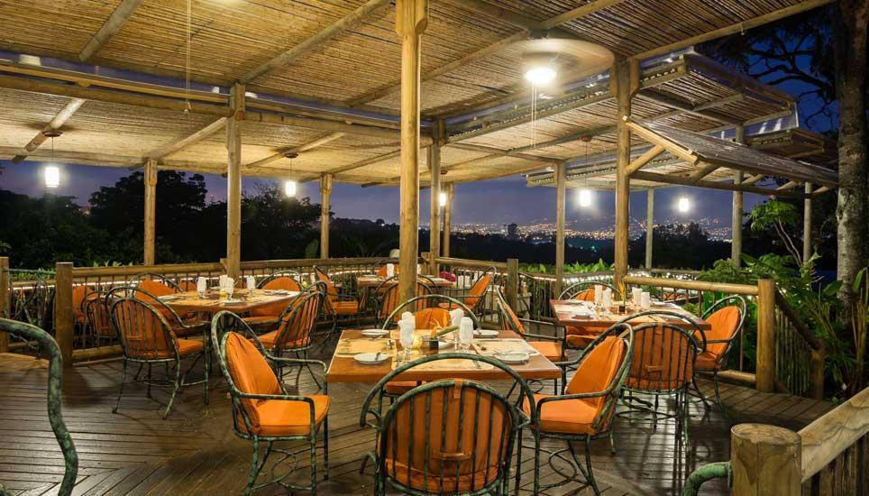 Finca Rosa Blanca dining area