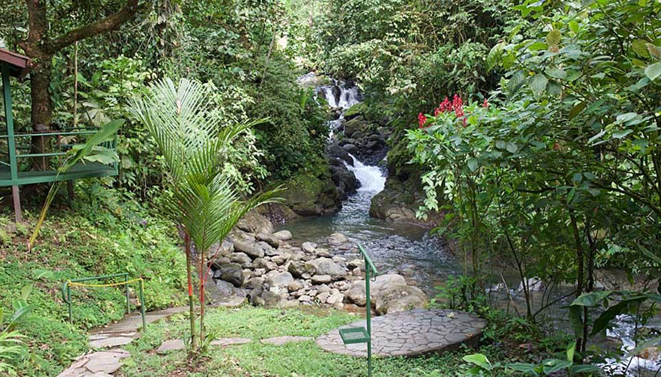 Santa Juana garden and stream