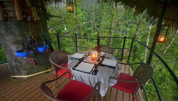Pacuare Lodge private dining