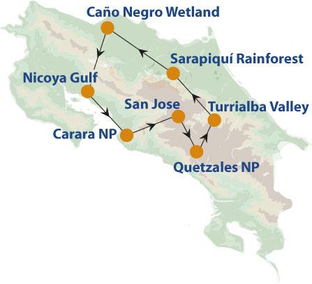 costa-rica-birdwatching-map