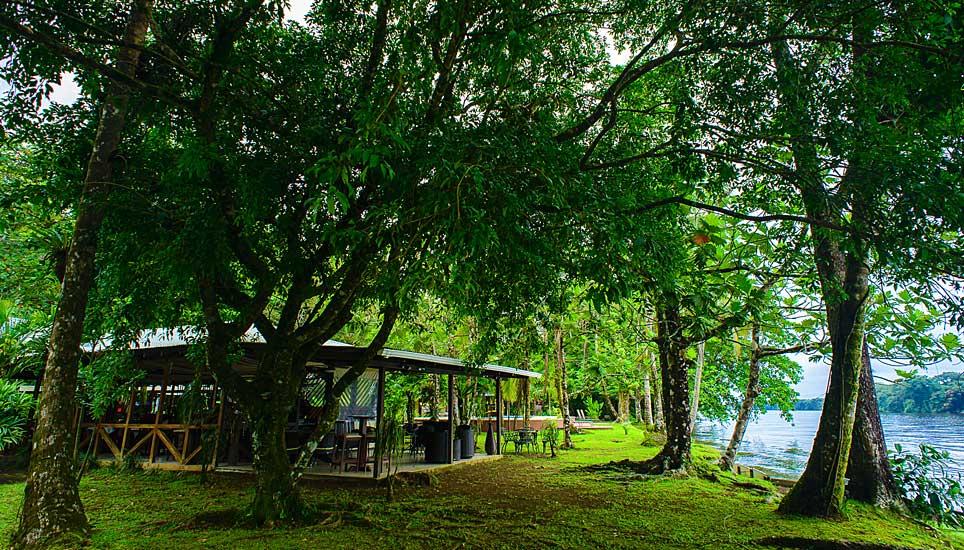 Manatus hotel garden and river