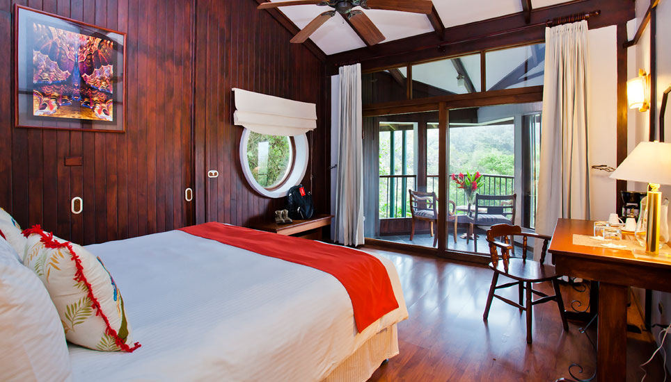 Typical view of a room at Monteverde Lodge
