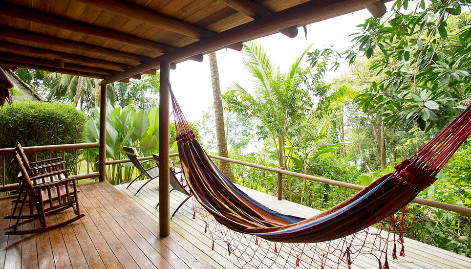 Bosque del Cabo room veranda with hammock