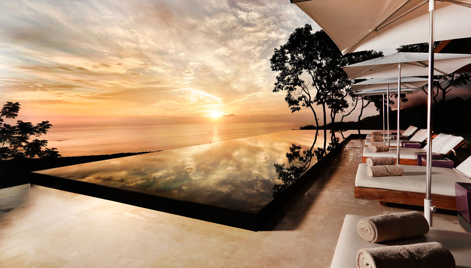 sunset at Kura Design Villas