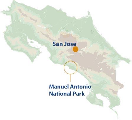 Manuel-Antonio mini map